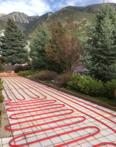 radiant heating heated driveway salt lake city